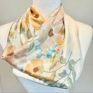 VTG Silk Floral Scarf